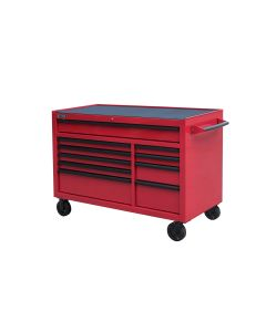 "Red Tool Cabinet Pro Series 54"" Rolling 10-Drawer"