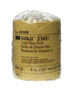 """5"""" 3M Stikit Gold Disc Roll - 125 Discs per Roll"""