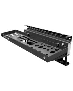 """Multipurpose Magnetic Tool Holder w/ 15 lb. Capacity and Extension - 20""""W x 5""""D x 4.75""""H, Black Steel"""