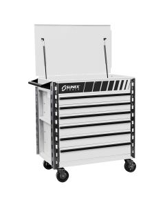 Sunex Tools Premium Full 6-Drawer Service Cart, White