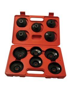 11 Piece Mechanic's Cap-Style Oil Filter Wrench Set
