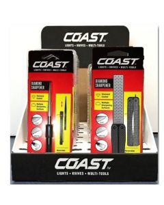 Coast Diamond Knife Sharpener 12-Piece Display