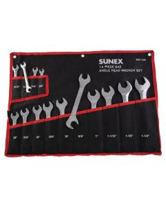 14 Pc. Full Polish  SAE Angle Head Wrench Set