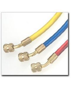 """Air Conditioning Charging Hose, for R12, Yellow, 72"""" Long, Standard 1/4"""" Fittings"""