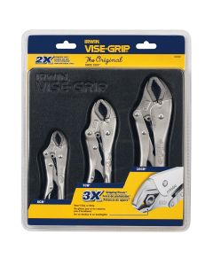 Vise-Grip Irwin Locking Pliers 3-Piece Set (10CR, 7CR and 5CR)