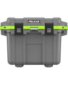 Pelican IM 30 Quart Elite Cooler, Dark Gray/Green