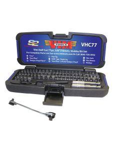 VIM Tools 77-Piece Half Cut Stubby Bit Set