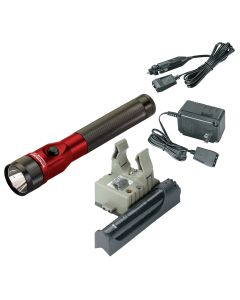 Stinger DS LED Rechargeable Flashlight with AC/DC and PiggyBack - Red