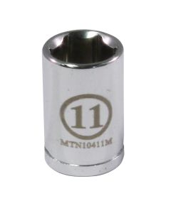 "1/4"" Drive 11MM 6 Point Socket"