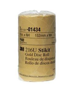 "6"" 3M Stikit Gold Disc Roll - 175 Disc per Roll"