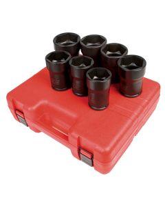 Sunex Tools 7-Piece 3/4 in. Drive Truck Pinion Locknut Impact Socket Set