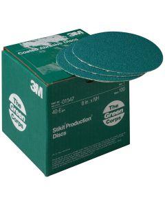 "3M Green Corps Stikit Production Discs, 6"" 40E, 100 Per Box"