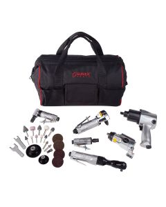Sunex Tools 6-Piece Air Tool Kit w/ Accessories and FREE Gatemouth Bag