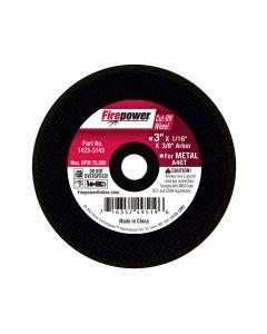 Type 1 Cut-Off Abrasive Wheel, 3 x 1/16 x 3/8