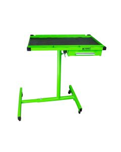 K-Tool 30 in. Adjustable Work Table with Swivel Casters, Green