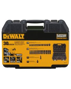 DeWalt 30-Piece 1/2 in. Drive Metric 6-Point Combination Impact Socket Set