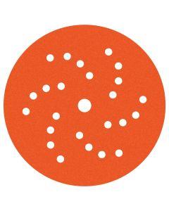 Dynabrade 6 in. Diameter Vac Dynacut Extreme Orange 800-Grit Premium Film Disc