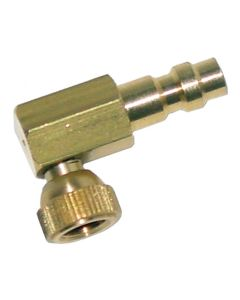 Small Schrader Right Angle Adapter with Quick Coupler Plug