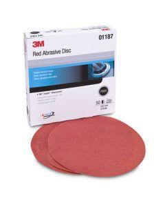"3M Red Abrasive Hookit Disc, 6"" P800 Grit, 50 Per Box"
