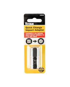 Titan 3/8 in. Square Drive to 1/4 in. Hex Drive Quick Change Adptr