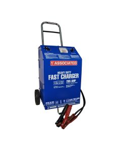 Associated 6/12V Heavy Duty Commercial Fast Battery Charger, 70/60/2A, 265 Amp Cranking