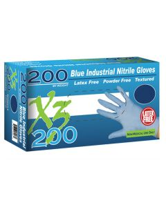 Xtreme X3200 Powder Free, Blue Nitrile Gloves, Large
