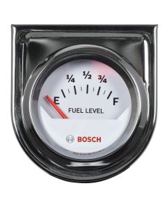 "2"" Electrical Fuel Level Gauge, White Face"