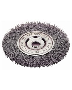 "Crimped-Type Wire Wheel Brush, 6"" Diameter"