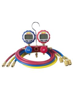 "2-Way Manifold with Digital Gauges and 60"" Enviro-Guard Hoses"