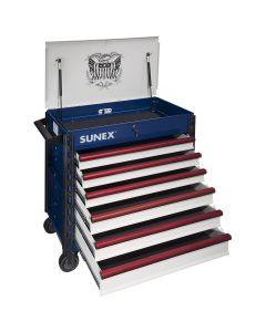 Sunex Tools Premium Full Service Cart w/ Patriotic USA Design