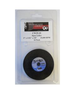 "10-pk Platinum Sure Life Cut Off Wheel 3"" x 1/32"" x 3/8"""