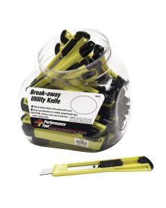 35 Piece Break-Away Utility Knife Fish Bowl Merchandiser