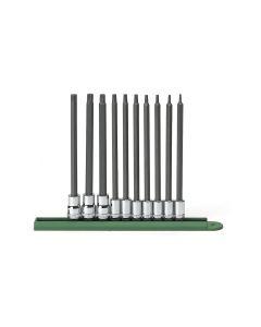 "10 Pc. 1/4"" and 3/8"" Drive Long Torx Bit Socket Set"