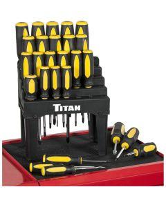 Titan Screwdriver 26-Piece Set with Stand