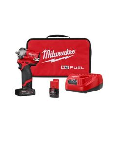 M12 FUEL 3/8 in. Stubby Impact Wrench w/ (2) Batteries Kit