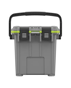 Pelican 20 Quart Elite Cooler, Dark Gray/Green