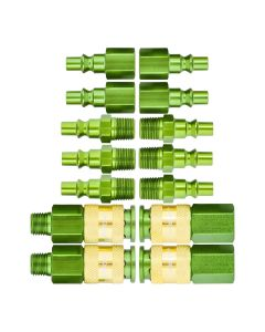 "1/4"" Green Body Coupler Kit 14pc"