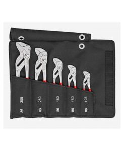Knipex 5-Piece Pliers Wrench Set in a Tool Roll
