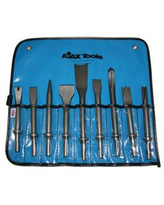 Pneumatic Bit Set, Chisels, 9 Piece, With A905, A906, A907, A908, A909, A910, A911, A912 and A932