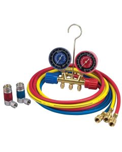 "A/C R-134A Manifold Gauge Set with 72"" Hose and Couplers"