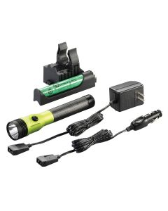Stinger DS LED HL Rechargeable Flashlight, 120/DC PiggyBack Holder, Lime, 800 Lumens