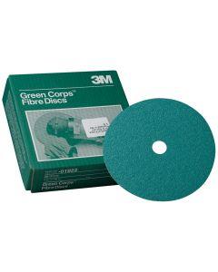"""3M Green Corps 7"""" x 7/8"""" Fibre Disc - 20 Discs per Box"""