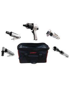 Sunex Tools 5-Piece Air Tool Kit w/ FREE Gatemouth Bag