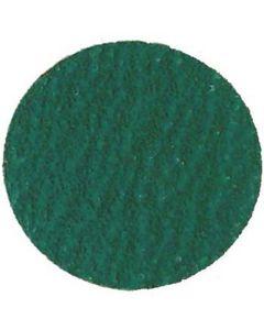 "3"" Green Zirconia Abrasive 50 Grit Disc (25/Box)"