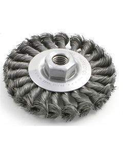 "8"" Wire Wheel Brush (Standard Twist) -  .014 Wire; 3/4"" Arbor"