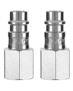 "Flexzilla Pro High Flow Plug, 1/4"" FNPT, 1/4"" Body, 2-Pack"