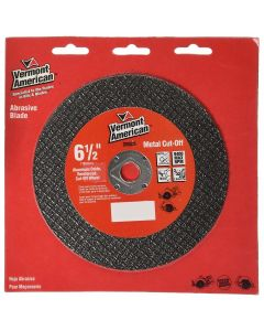"Vermont American 6-1/2"" Abrasive Wheel for Cutting Metal (Type 1A or ISO 41)"