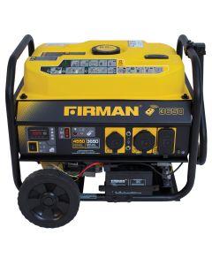 Firman Power Equip. 3650/4550 Watt Portable Remote Start Generator with Wheel Kit