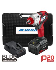 ACDelco P20 - 20V BRUSHLESS 3/8 in. Impact Wrench Kit