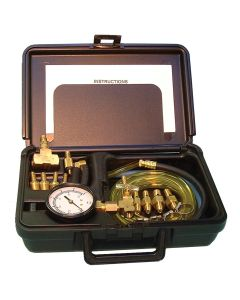 Multi-Port Fuel Injection Pressure Tester For Domestic And Foreign Vehicles In Molded Plastic Storage Case